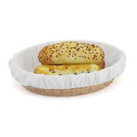 buns sesame seeds wicker basket 3d model