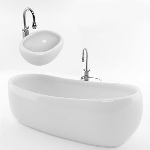 3d bathtub bath tub