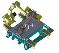 Robot system welding with JIG & Fixture