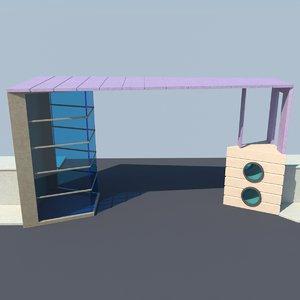 3d model gate entrance