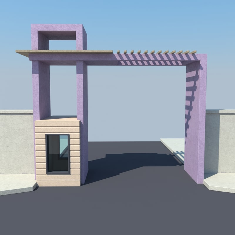3d model of entrance door