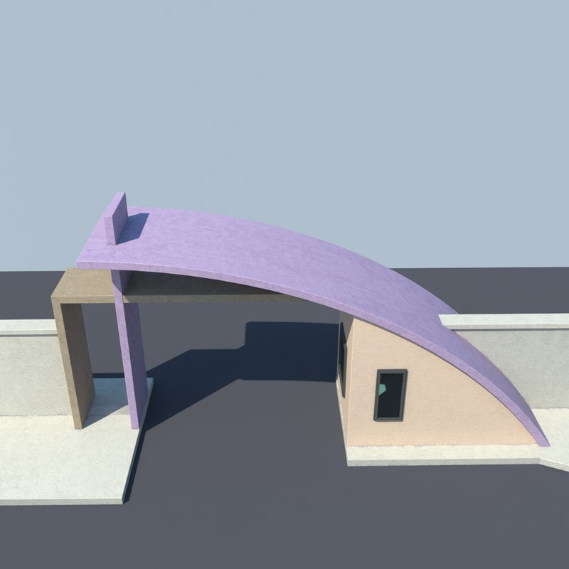 3d model of gate entrance