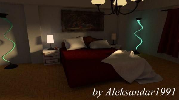 3d model simple room