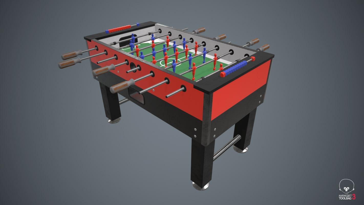 3d model of pbr table football