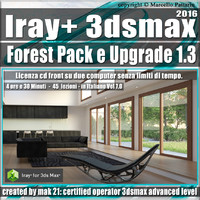 Iray + 1.3 in 3dsmax 2016 Forest Pack e Upgrade Vol 7.0 Cd Front