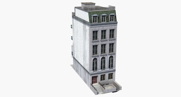 row house city 3d max