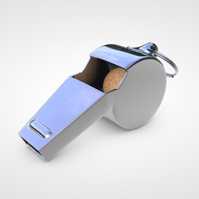 whistle 3d c4d