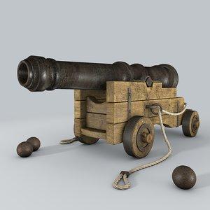 vessel cannon 3d c4d