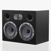 bookshelf bowers wilkins 4 3d model