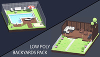 Low Poly Art Backyards Pack