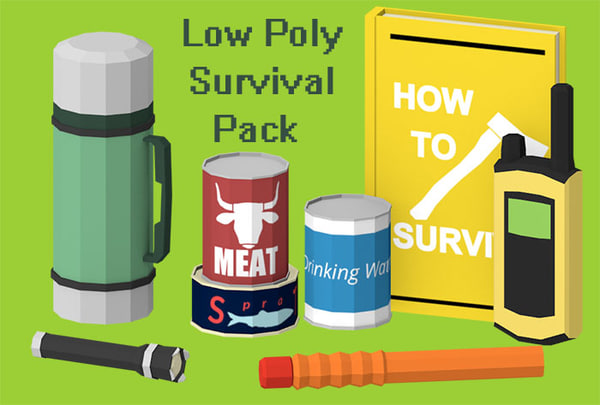 3d model art survival props pack