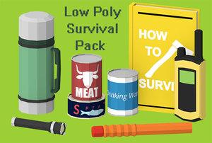 3d model art survival props pack