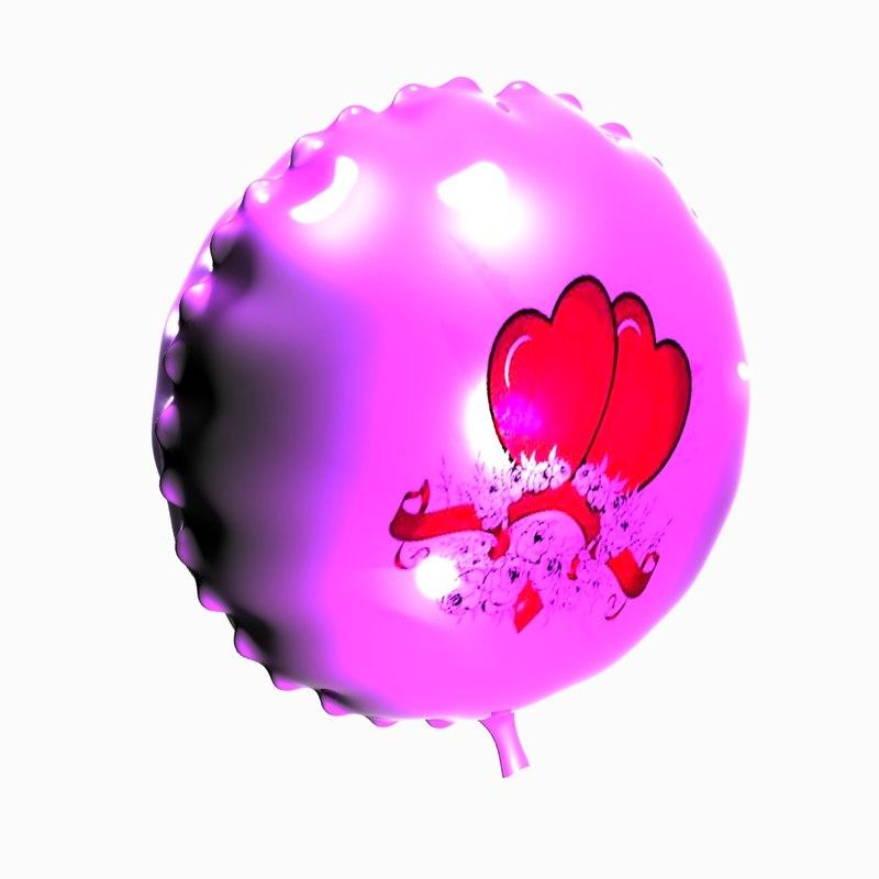 3d model shiny balloon