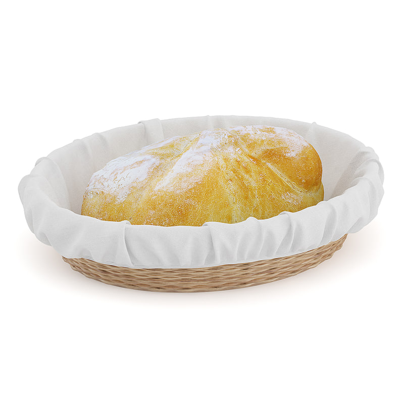 bread wicker basket 3d model