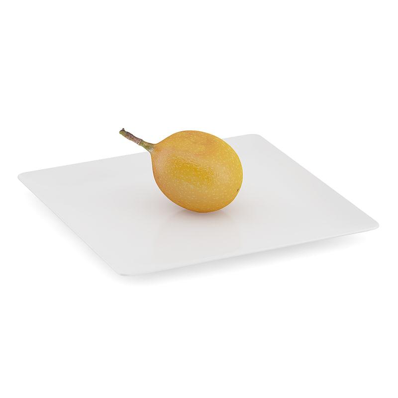 max granadilla white plate