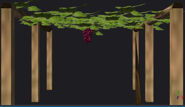 grapes tree 3d model