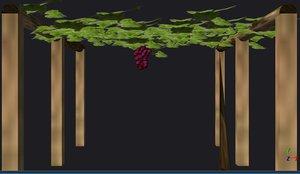 grapes tree 3d model