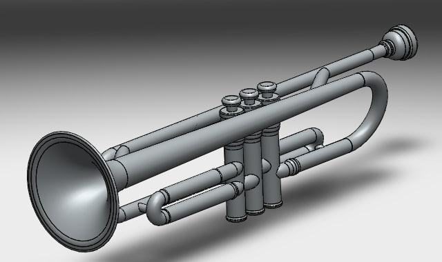 3d simplified trumpet