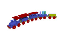 3d model of toy train