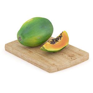 3d model papaya wooden board