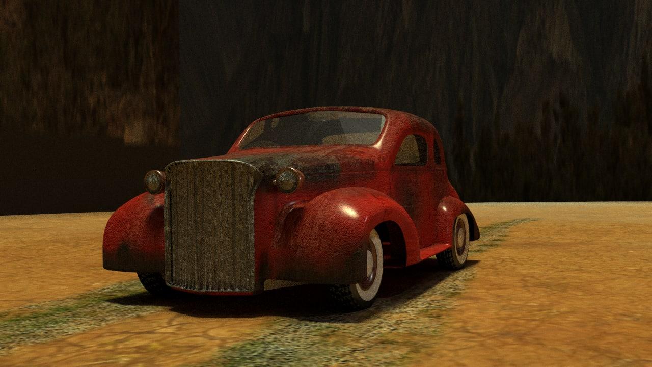 free obj mode old car