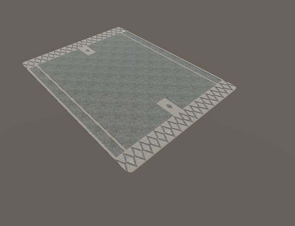 3d model man hole cover