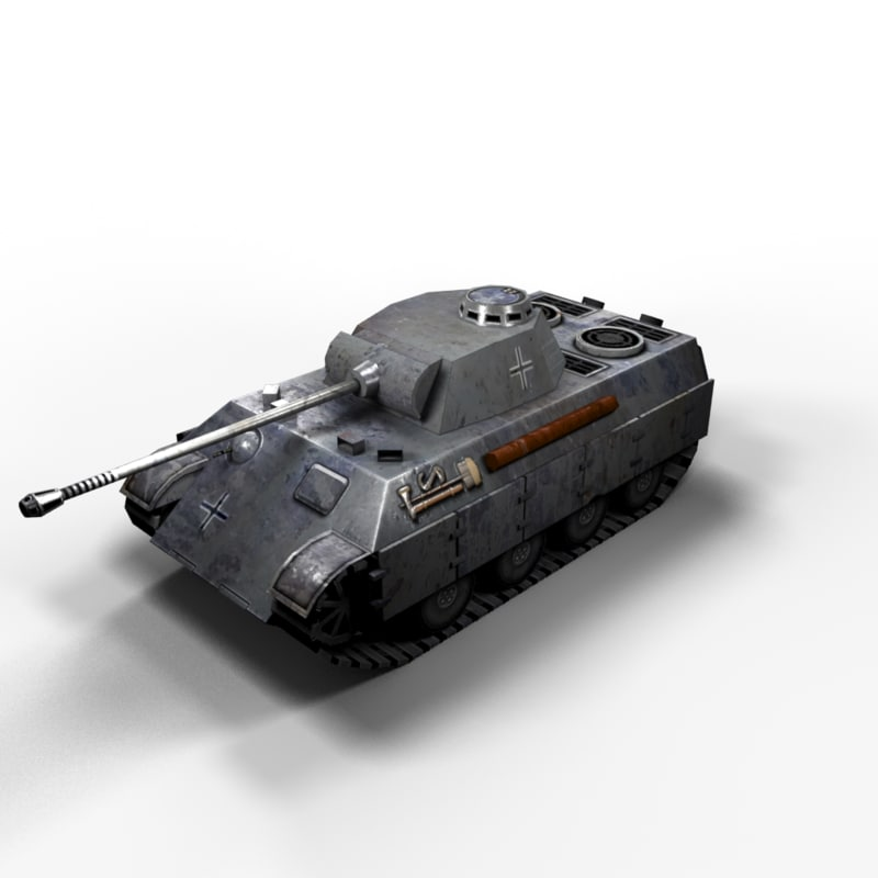 3d model tanks wwii polys