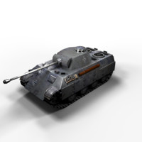 Panther Panzer V Low Poly