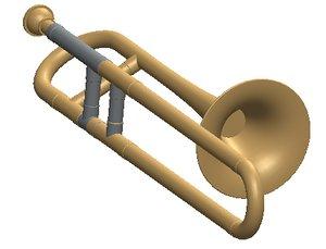 3d simplified trombone