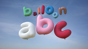 balloons lower case 3d 3ds