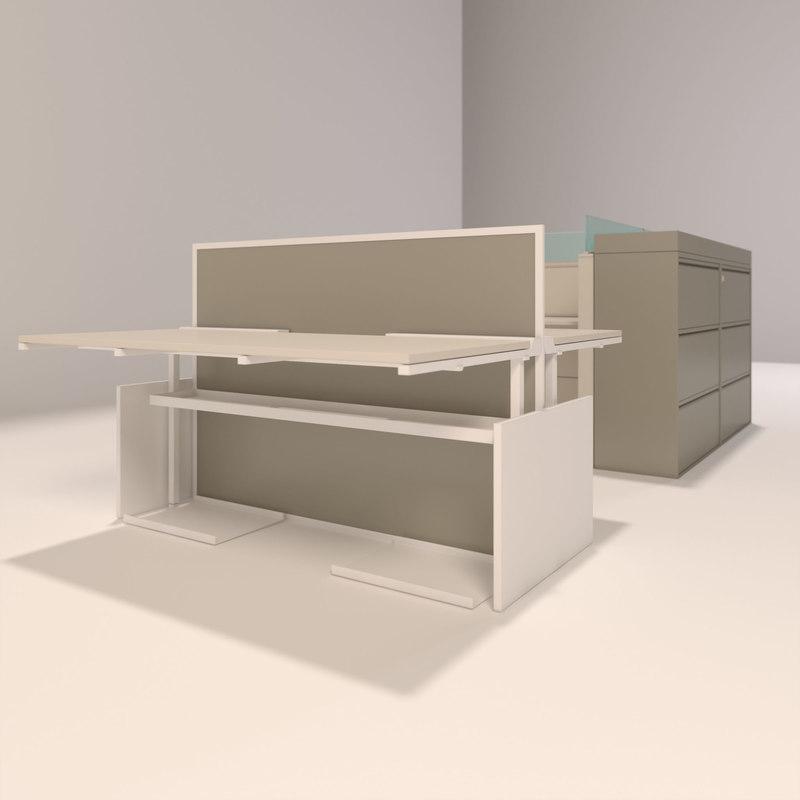 office desks 3d max