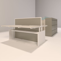 office desks 3d max