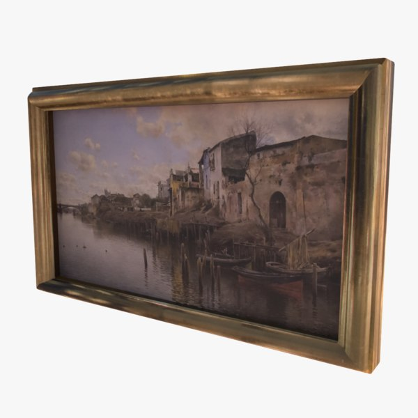3d old oil painting