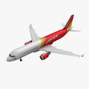airbus a320 vietjet air 3d model