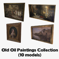 old oil paintings 3d max