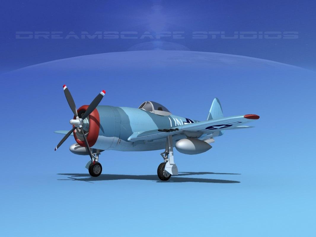 3d thunderbolt fighters bomber model