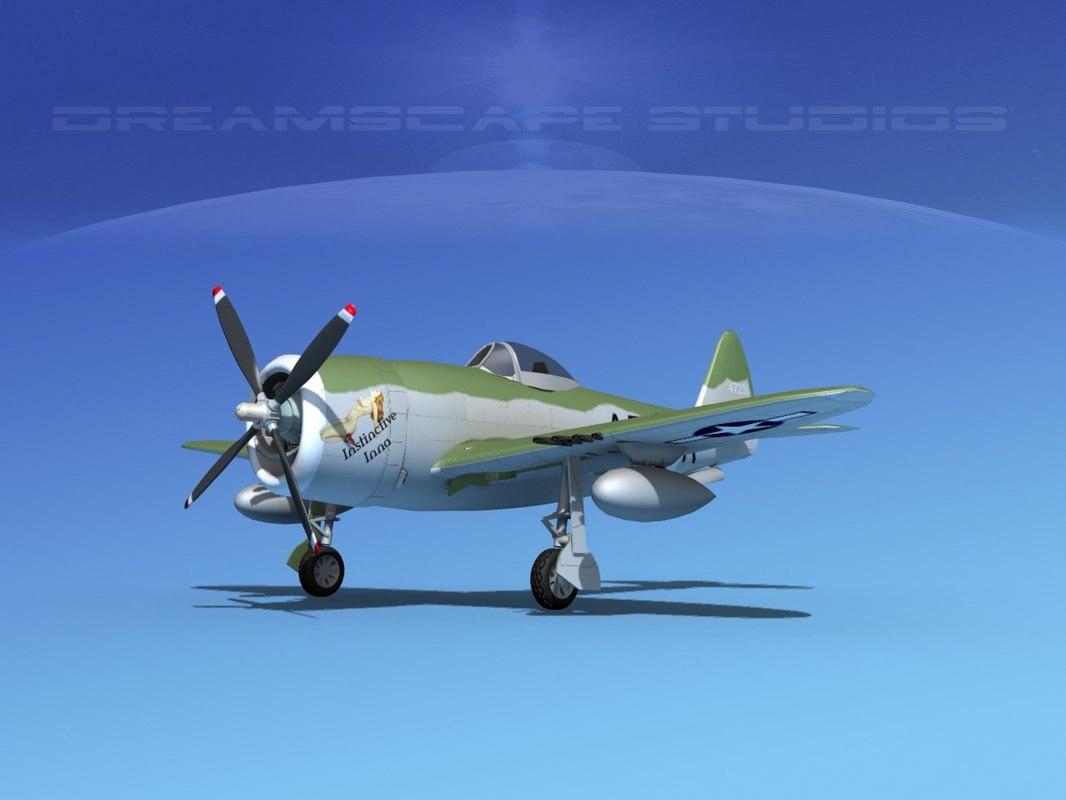 thunderbolt fighters bomber obj