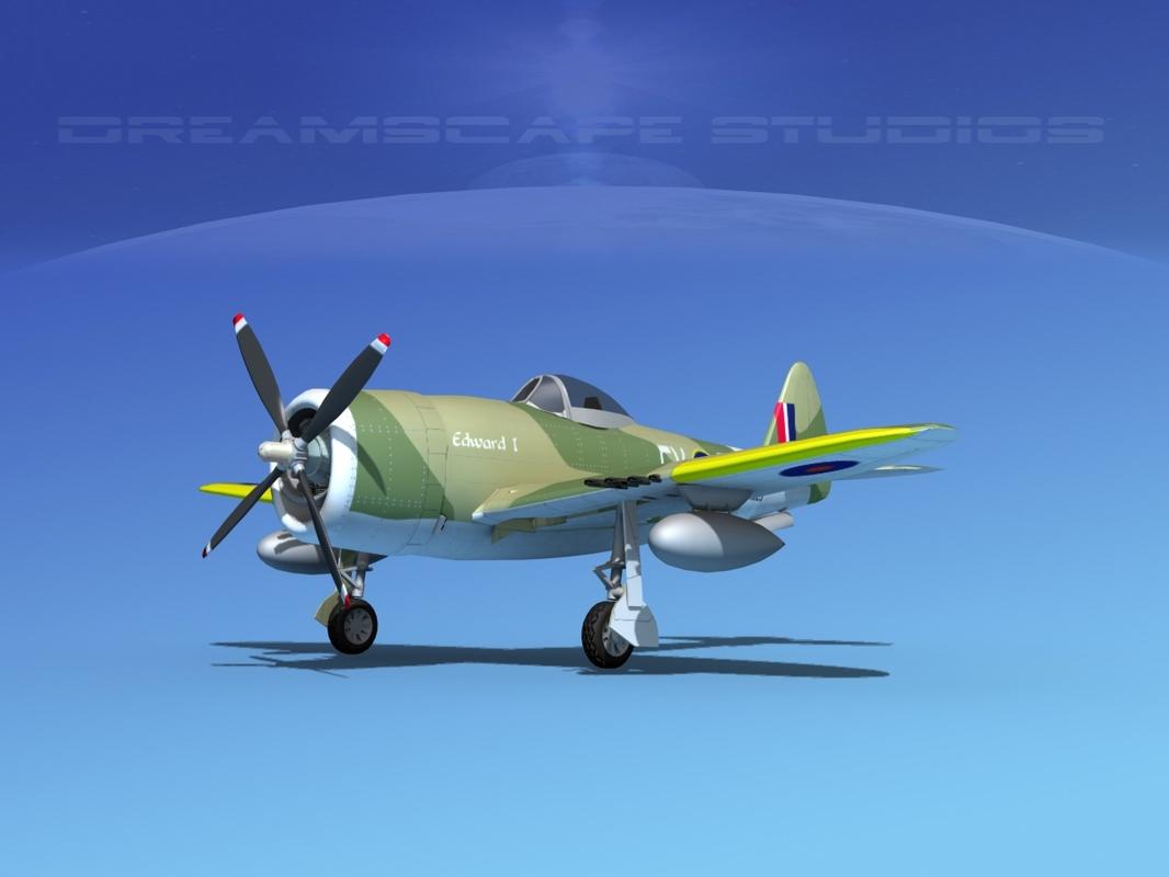 3d 3ds thunderbolt fighters bomber