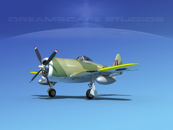 3d 3ds thunderbolt fighters bomber