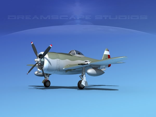 3d model thunderbolt fighters bomber