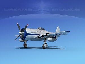 3d model of thunderbolt fighters bomber