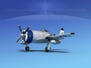 3d model thunderbolt fighters bomber