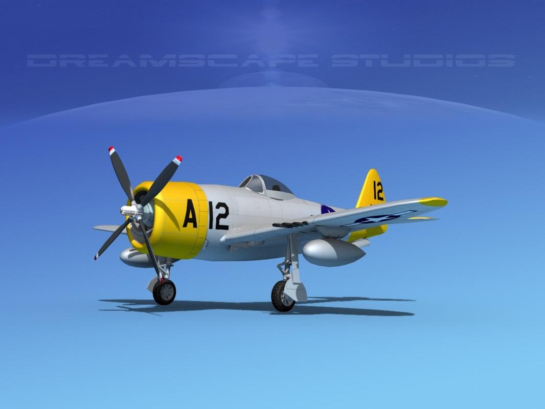 thunderbolt fighters bomber 3d model