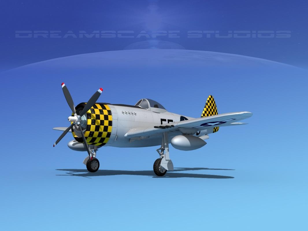 3d thunderbolt fighters bomber