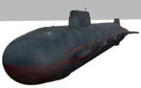 3d military submarine