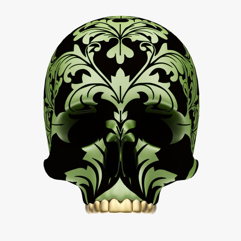skull design 3d model