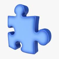 puzzle blue 3d 3ds