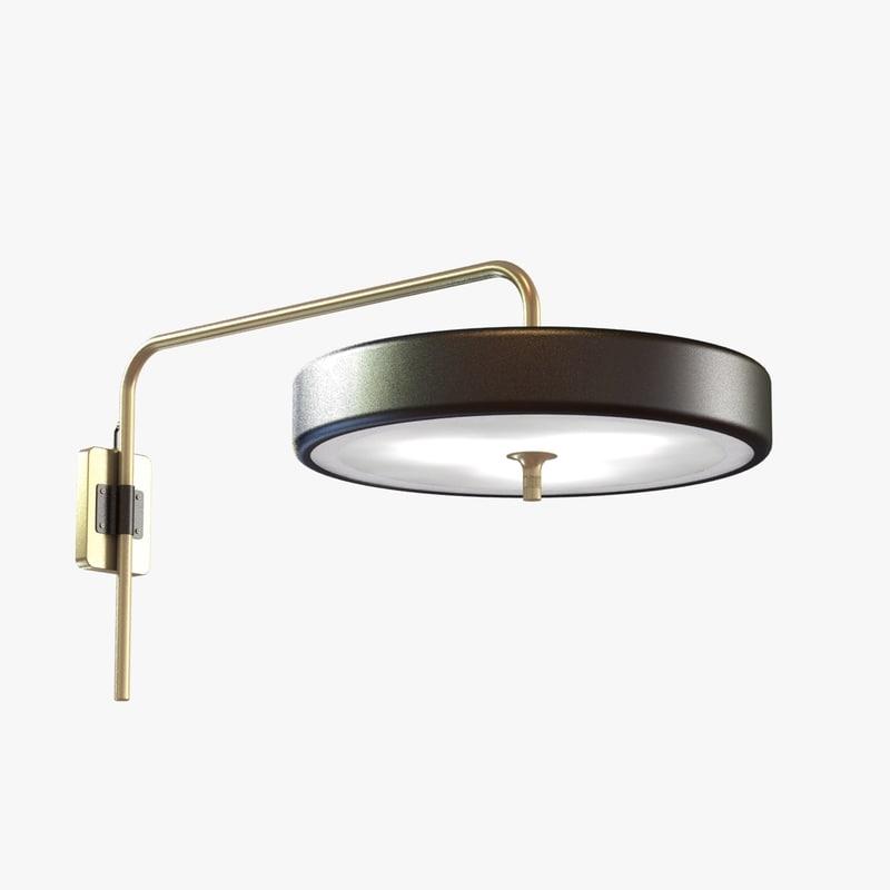 bert frank revolve wall light 3d model