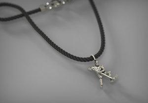 necklace hockey 3d model