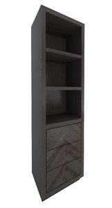 restoration hardware herringbone cabinet 3d model